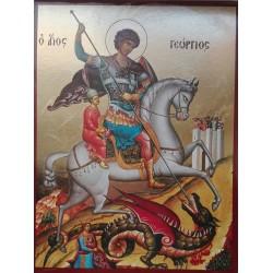 Ikona sv. Jiří bojujícího s drakem