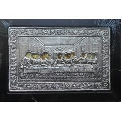 Kovová ikona Poslední večeře a ustanovení eucharistie