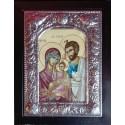 Kovová ikona Svaté rodiny