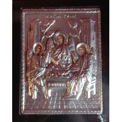 Kovová ikona Svaté Trojice