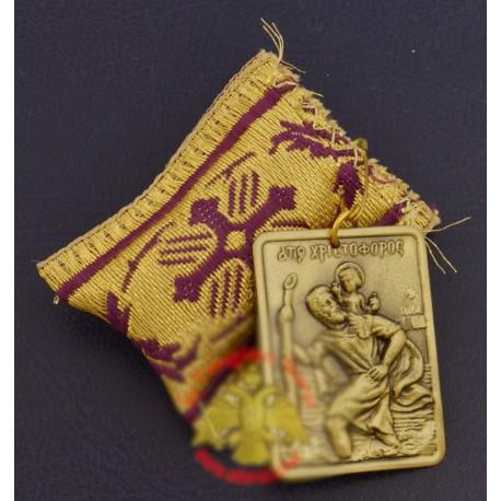 Filakto s kovovou ikonkou sv. Kryštofa (Christoforos)