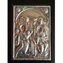 Kovová ikona Navštívení Panny Marie