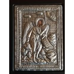 Kovová ikona Jana Křtitele