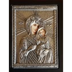Kovová ikona Panny Marie z Tinu