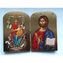 Diptych - Kristus s Bohorodicí