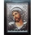 Kovová ikona Ježíše Krista