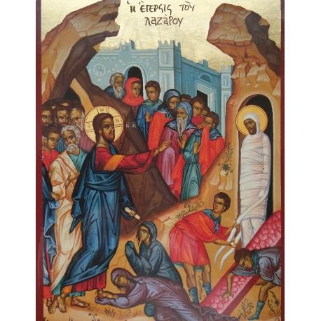 Kristus křísí Lazara z mrtvých