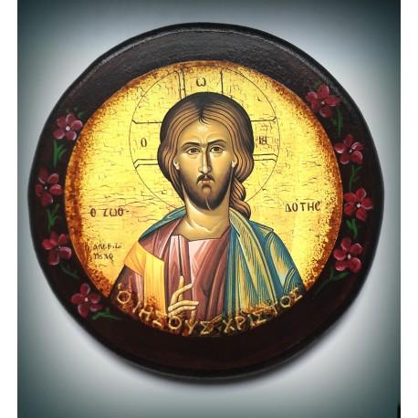 Antický styl ikony  - Žehnající Kristus