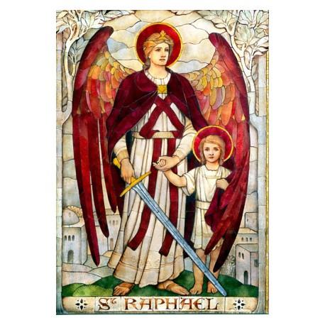 Vitráž - Archanděl Rafael