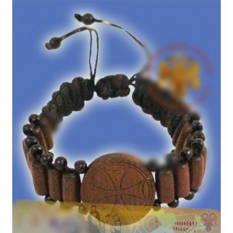 Dřevěný modlitební náramek