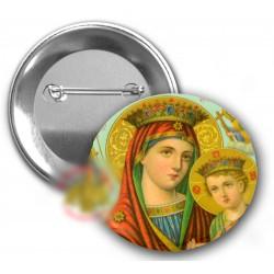 Odznáčky s Pannou Marií a Kristem A