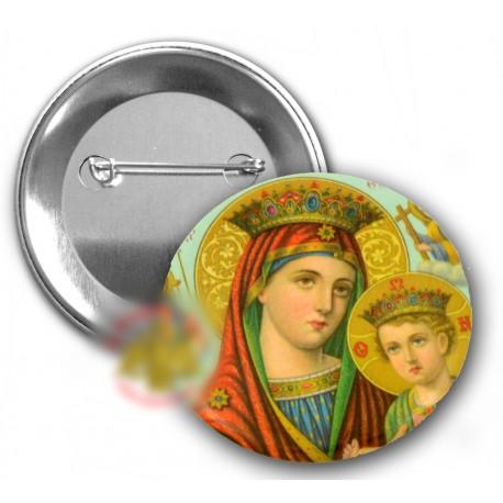 Odznáčky s Pannu Marií a Kristem A