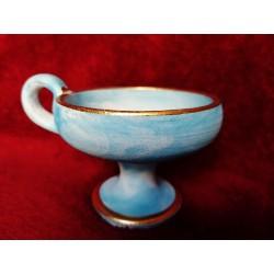 Kadidelnice modrá keramická 8cm