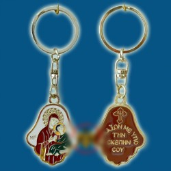 Klíčenka s Pannou Marií a Kristem na dlani