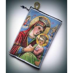 Peněženka s byzantskou ikonou Bohorodice a Krista