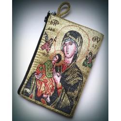 Peněženka s byzantskou ikonou Bohorodice a Krista A