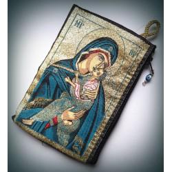 Peněženka s byzantskou ikonou Bohorodice a Krista C