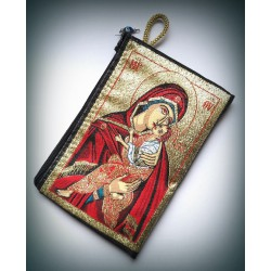 Peněženka s byzantskou ikonou Bohorodice a Krista B