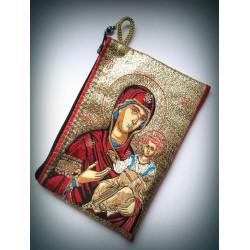 Peněženka s byzantskou ikonou Bohorodice a Krista D