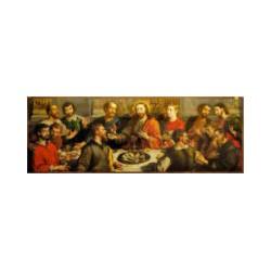 Poslední večeře - obrázek na dřevě