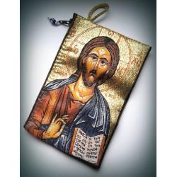 Peněženka s byzantskou ikonou Krista (6x10)
