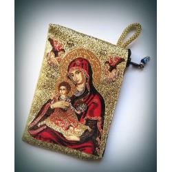 Peněženka s byzantskou ikonou Bohorodice E (6x10)