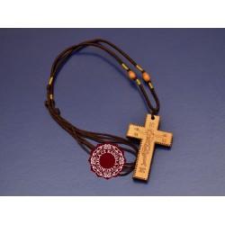 Dřevěný kříž na krk (pyrografie)