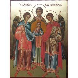 Synaxis tří archandělů s Kristem