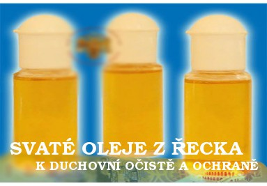 Svaté oleje z Řecka
